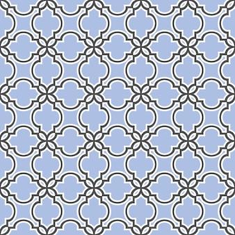 Estilo islámico azul de patrones sin fisuras