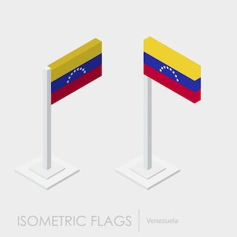 Estilo isométrico 3d de la bandera de venezuela