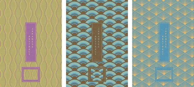 Estilo japonés oriental abstracto de patrones sin fisuras fondo diseño geometría onda escala curva punto cruzado línea polígono tracería cruzada