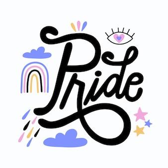 Estilo de letras del día del orgullo