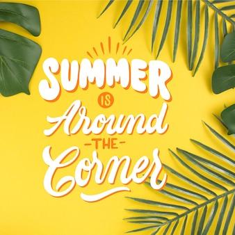 Estilo de letras de verano