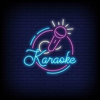Estilo de letreros de neón de karaoke