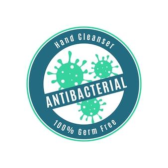Estilo de logotipo antibacteriano