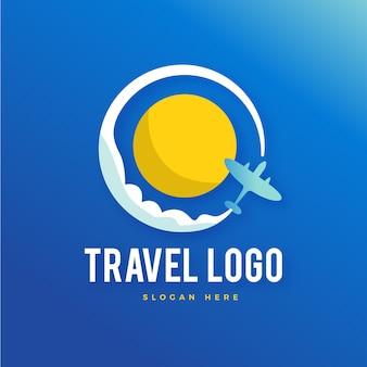 Estilo de logotipo de viaje detallado