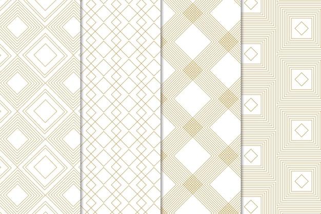 Estilo minimalista de colección de patrones geométricos