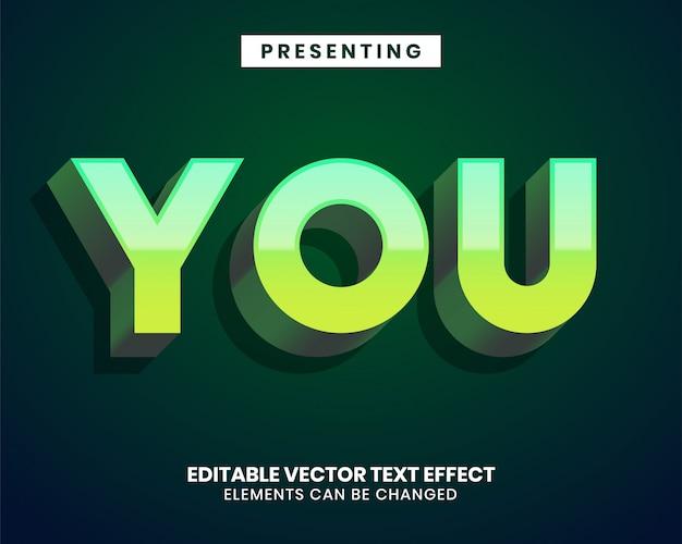 Estilo moderno con efecto de texto editable degradado genial