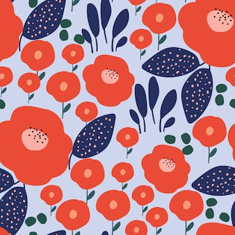 Estilo moderno flor de patrones sin fisuras