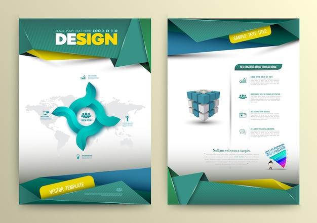 Estilo moderno de la plantilla de la página del diseño del vector.
