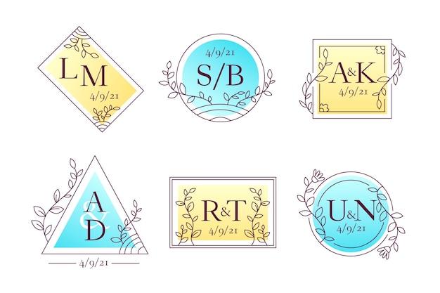 Estilo de monogramas de boda elgant