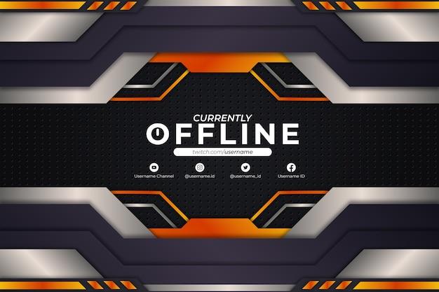 Estilo naranja de fondo actualmente sin conexión