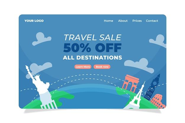 Estilo de página de destino de venta de viajes