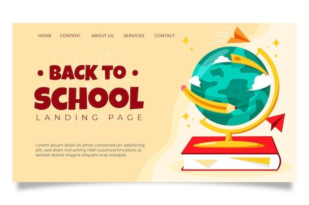 Estilo de página de inicio de regreso a la escuela
