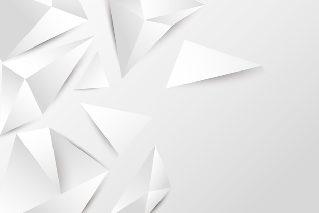 Estilo de papel de fondo blanco isométrico