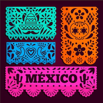 Estilo de paquete de empavesado mexicano