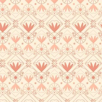 Estilo de patrón art deco de oro rosa