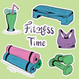 Estilo plano. un conjunto de elementos necesarios para el entrenamiento físico.