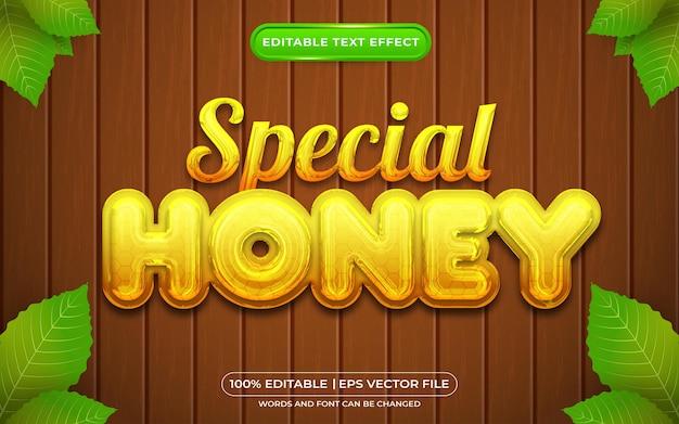 Estilo de plantilla de efecto de texto editable de miel especial
