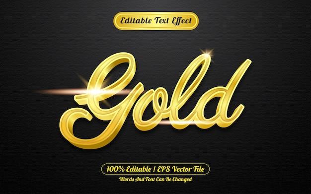 Estilo de plantilla de efecto de texto editable de oro creativo