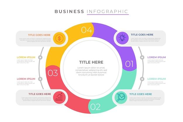 Estilo de plantilla de infografía empresarial