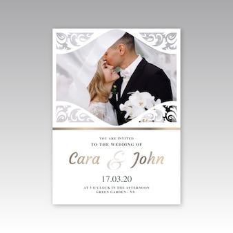 Estilo de plantilla de invitación de boda