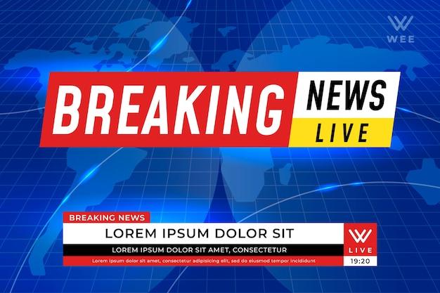 Estilo de plantilla de noticias de última hora en vivo