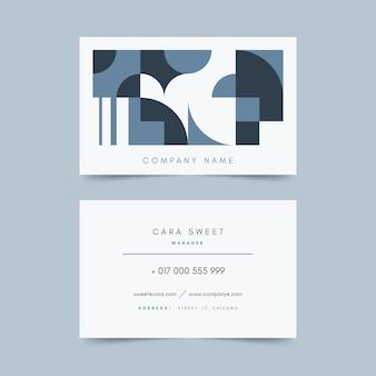 Estilo de plantilla de tarjeta de visita azul clásica