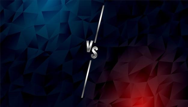 Estilo polivinílico bajo vs versus banner