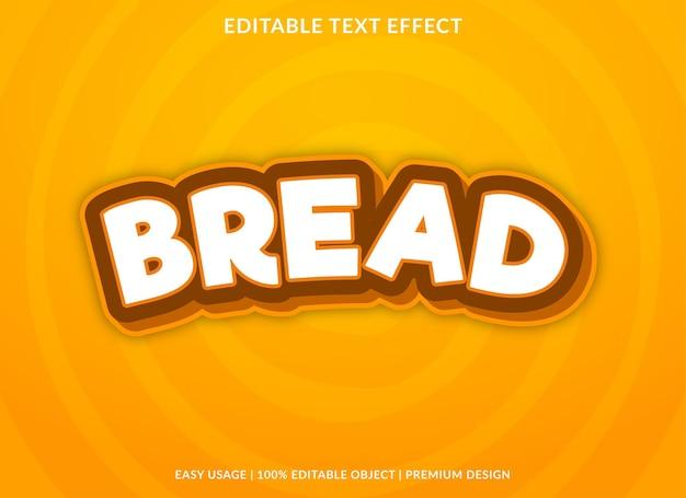 Estilo premium de efecto de texto editable de pan