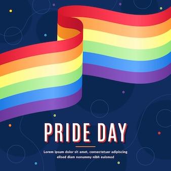 Estilo realista de la bandera del día del orgullo