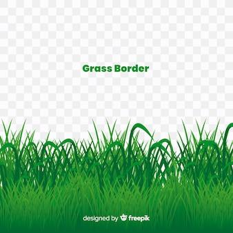 Estilo realista de la bandera de la hierba verde