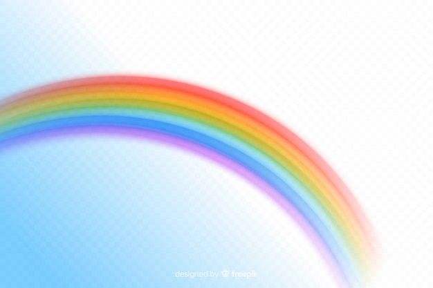 Estilo realista colorido arco iris decorativo