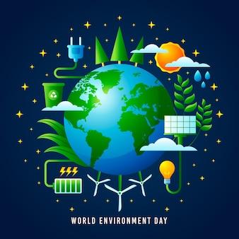 Estilo realista del día mundial del medio ambiente