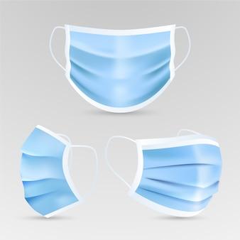 Estilo realista de máscara médica
