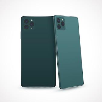 Estilo realista para el nuevo modelo de teléfono inteligente.