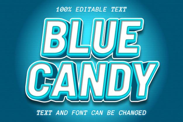 Estilo de relieve de efecto de texto editable azul hielo