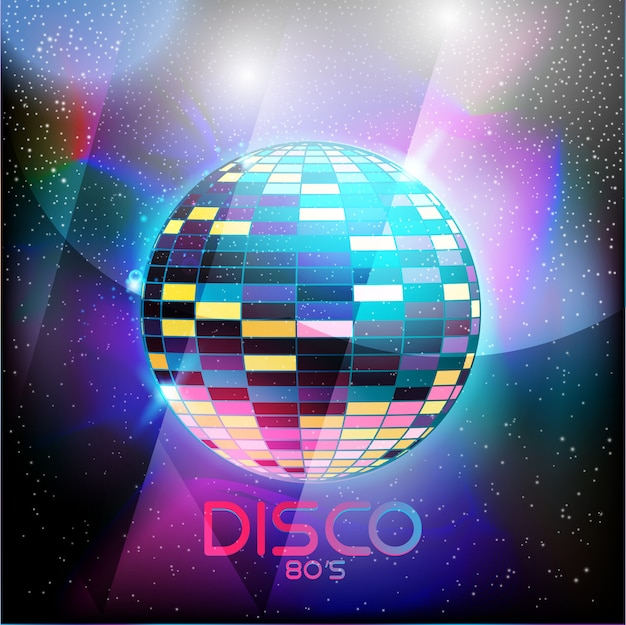 Estilo retro disco 80s diseño neón