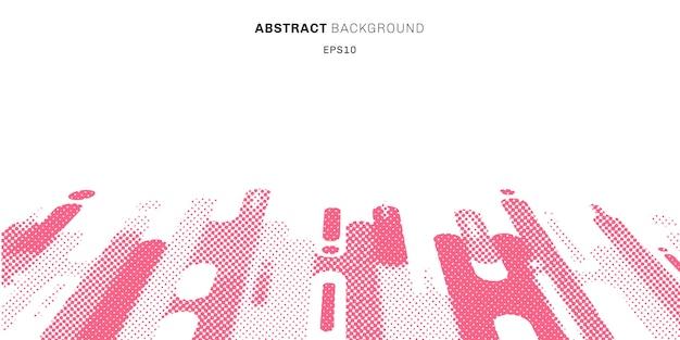Estilo de semitono abstracto formas redondeadas de color rosa