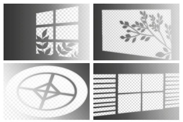 Estilo de sombras transparentes con efecto de superposición