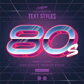 Estilo de texto de los 80