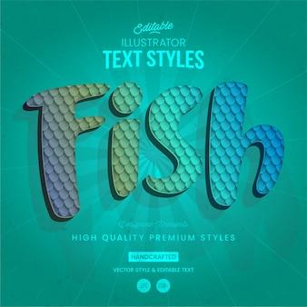 Estilo de texto animal pez