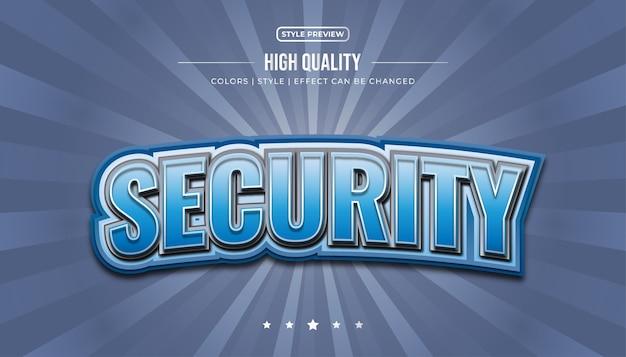 Estilo de texto azul audaz con efectos 3d y curvos para una identidad de deportes electrónicos o un nombre de logotipo