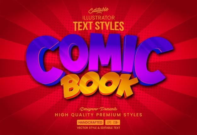 Estilo de texto brillante de cómic