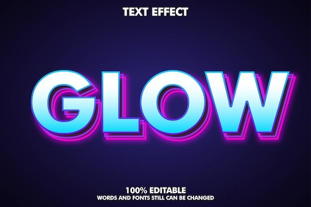 Estilo de texto de capa moderno con contorno brillante