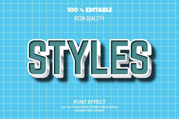Estilo de texto de estilos, efecto de fuente editable