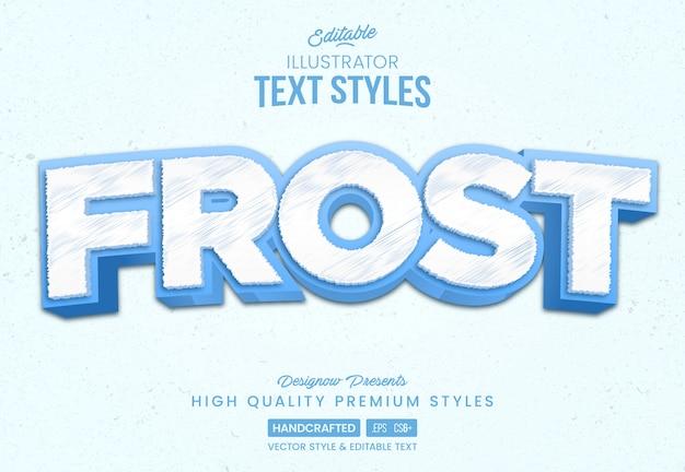 Estilo de texto de ice frost