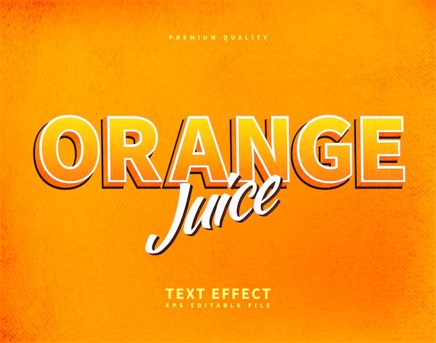 Estilo de texto de jugo de naranja para paquete o pancarta