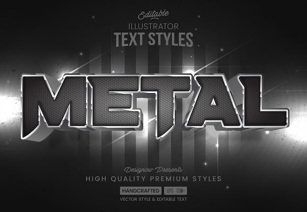 Estilo de texto de metal y fibra de carbono