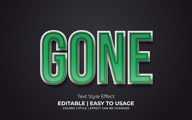 Estilo de texto en negrita verde con textura y efecto realista
