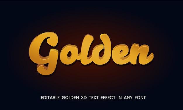 Estilo de texto en oro 3d premium
