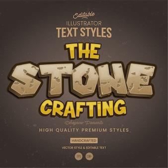 Estilo de texto de piedra y roca